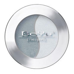 Атласные тени для век BeYu - Duo Eye Shadow №51 Dark Grey - Ice Blue Powder (brk_349.51)