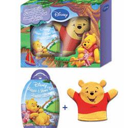 Admiranda Winnie The Pooh -  Набор (гель для душа c экстрактом черники 300 + мочалка рукавица) (арт. AM 71422)