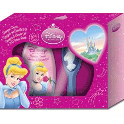 Admiranda Princess - для девочек Набор Cinderella (шампунь-гель для душа персик и абрикос 300 + расческа 3D) (арт. AM 71443)