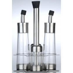 Berghoff -  Набор -  4 предмета (емкость для соли. перца. уксуса и масла) на подставке (арт. 1109763)