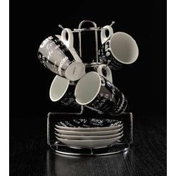 COOK and Co (от Berghoff) -  Набор из 4 чашек с блюдцами на подставке (арт. 2800232)