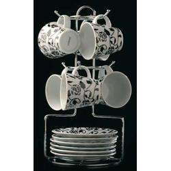 COOK and Co (от Berghoff) -  Набор из 6 чашек с блюдцами на подставке (арт. 2800249)