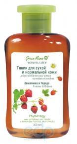 Green Mama - Тоник для сухой и нормальной кожи Земляника и Череда - 300 ml