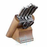 Vinzer (посуда) Vinzer -  Набор ножей Massive - 7 предметов, подставка комбинированная дерево - нержавеющая сталь (арт. 89124)