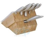 Vinzer (посуда) Vinzer -  Набор ножей Antarctic - 7 предметов, стальная ручка, подставка из дерева (арт. 69130)