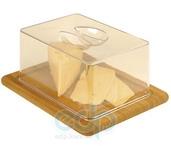 Vinzer (посуда) Vinzer -  Бамбуковая доска для сыра с пластиковой крышкой - 26 х 20 см (арт. 69926)