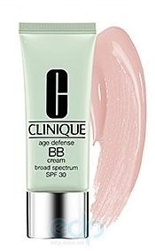 Крем тональный для лица корректирующий, выравнивающий тон с антивозрастным эффектом для всех типов кожи Clinique - Age Defense BB Cream Broad Spectrum SPF 30 №01 - 40ml