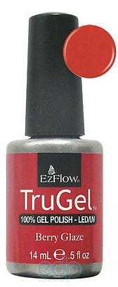 EzFlow - Гель-лак TruGel Berry Glaze № 412 малиновый перламутр - 14 ml