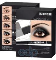 Pupa - Smoky Eyes Kit Изумрудный - Набор для макияжа (Тени для век 4-цветные 4Eyes Palette Ombretti Multiuso 25 6 g + Карандаш для глаз Multiplay 29 Зеленый милитари 0.8 g)