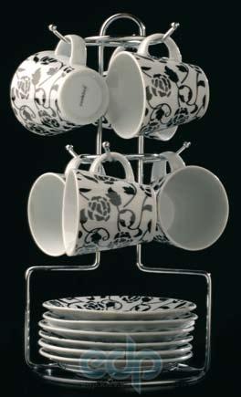 Berghoff Cook&Co (посуда) COOK and Co (от Berghoff) -  Набор из 6 чашек с блюдцами на подставке (арт. 2800249)