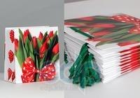 Пакет бумажный Sabona - Тюльпаны с бантом 22.5x22x10