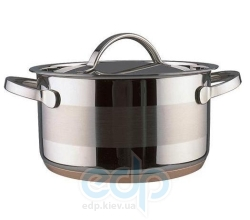 Vinzer (посуда) Vinzer -  Кастрюля - нержавеющая сталь, диаметр 18см, 2,6л , медное дно (арт. 69086)