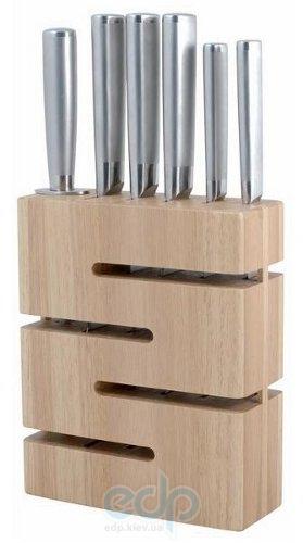 Vinzer (посуда) Vinzer -  Набор ножей Labyrinth - 7 предметов, стальная ручка, подставка из дерева (арт. 69128)