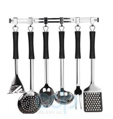Vinzer (посуда) Vinzer -  Кухонный набор - 7 предметов, планка, резиновое покрытие ручек (арт. 69190)