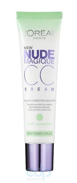 Крем-уход тональный для лица увлажняющий против покраснения кожи Loreal - Nude Magique CC Cream SPF20 - 30 ml