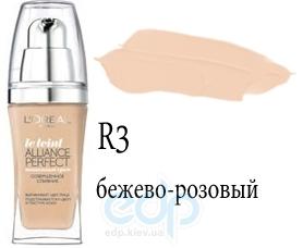 Тональный крем для лица тающий L'Oreal - Alliance Perfect №R3 Бежевый розовый - 30 ml