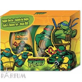 Admiranda Ninja Turtles -  Набор (гель для душа зеленый банан 300 + мочалка-варежка) (арт. AM 73082)