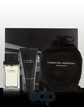 Carolina Herrera Chic for men -  Набор (туалетная вода 100 + после бритья 100 + сумка)