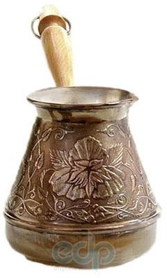 Турка медная Цветок  - объем 600 мл (арт. 290019)