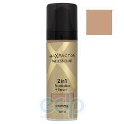 Основа тональная для лица Max Factor - AGELESS ELIXIR 2 в 1 Foundation + Serum №75 Золотой - 30 ml