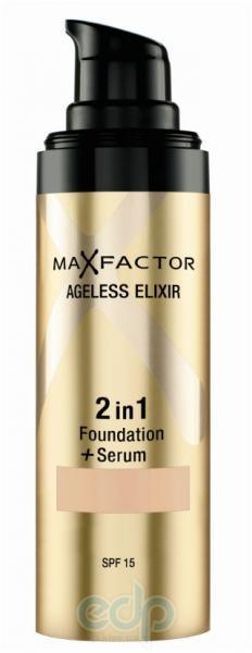 Основа тональная для лица Max Factor - AGELESS ELIXIR 2 в 1 Foundation + Serum №65  Розовато-бежевый - 30 ml