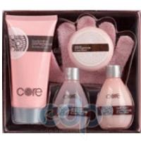 Mades Cosmetics - Core гранат и цветок вишни - Набор (гель для душа 100 мл+лосьон для тела 200 мл+мыло 50 г+пена для ванны 100 мл+массажная мочалка-рукавичка)