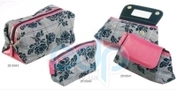 Mades Cosmetics - Косметичка из полиэстера, с зеркальцем внутри, розово-черная - 20 х 11х 4.5 см