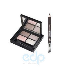 Pupa - Cashmere Attraction Kit Кашемир - Набор для макияжа (тени 4-х цветные + карандаш для глаз Multiplay 08 0.8g + аппликатор) 6.8 g