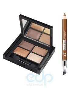 Pupa - Troplcal Bronze Kit бронзовый - Набор для макияжа (тени 4- цветные+карандаш для глаз Multiplay 27 0.8 g + аппликатор) 6.8 g