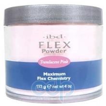 ibd - Прозрачно-розовая акриловая пудра Translucent Pink Flex Polymer Powder - 113 g