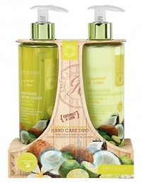 Grace Cole - Набор для ухода за кожей рук Hand Care Duo Coconut & Lime с ароматом кокоса и лайма
