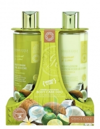 Grace Cole - Набор для ухода за телом Body Care Duo Coconut & Lime с ароматом кокоса и лайма