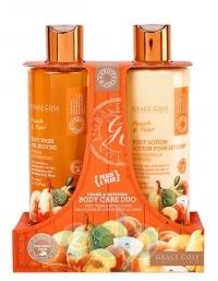 Grace Cole - Набор для ухода за телом Body Care Duo Peach & Pear с ароматом персика и груши