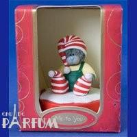 Teddy MTY (мишки) Фигурка Новогодняя MTY (Me To You) -  мишка на подставке в полосатых носочках и шапочке (арт. G01R0025)