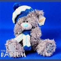Teddy MTY (мишки) Игрушка плюшевый мишка MTY (Me To You) -  в шапке и шарфе 23 см (арт. G01W0566)