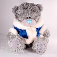 Teddy MTY (мишки) Игрушка плюшевый мишка MTY (Me To You) -  в голубой шубке Someone Special 25 см (арт. G01W1240)