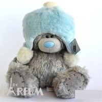 Teddy MTY (мишки) Игрушка плюшевый мишка MTY (Me To You) -  мишка в голубой меховой шапке 25 см (арт. G01W1996)