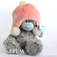 Teddy MTY (мишки) Игрушка плюшевый мишка MTY (Me To You) -  мишка в розовой меховой шапке 25 см (арт. G01W1997)