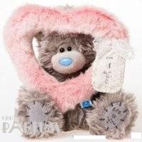 Teddy MTY (мишки) Игрушка плюшевая MTY (Me To You) -  мишка смотрит сквозь розовое сердце 17 см (арт. G01W2003)