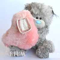 Teddy MTY (мишки) Игрушка плюшевый мишка MTY (Me To You) -  мишка с розовым меховым сердцем LOVE N KISSES 22 см (арт. G01W2005)