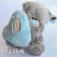 Teddy MTY (мишки) Игрушка плюшевый мишка MTY (Me To You) -  мишка с голубым меховым сердцем LOVE N KISSES 22 см (арт. G01W2006)
