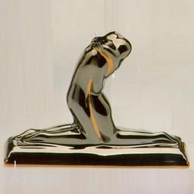 Galos (статуэтки) Статуэтки Galos (Испания) - Эмбрасе - 11 x 15 см. (фарфор, покрытие платиной, золотом)