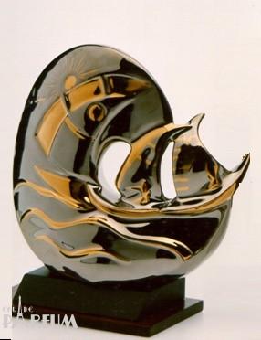 Galos (статуэтки) Статуэтки Galos (Испания) - Море - 23 x 16 см. (фарфор, покрытие платиной, золотом)