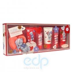 Grace Cole - Набор подарочный Cute Companions (гель для душа 75 ml + лосьон для тела 75 ml + пена для ванны 75 ml + блеск для губ 2 x 15 ml + мочалка)