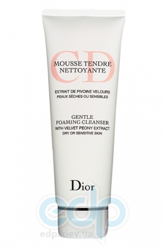 Пена для умывания для сухой и чувствительной кожи Christian Dior - Mousse Tendre Nettoyante Gentle Foaming Cleanser with Velvet Peony Extract - 125 ml Tester