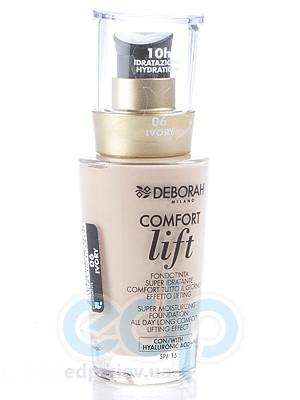 Deborah - Тональная Основа для лица вельветовая Comfort Lift № 06 - 30 ml
