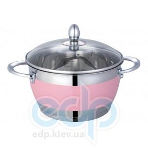 Lessner - Pink Кастрюля с крышкой объем 3.6 л диаметр 20 см  (арт. ЛС55117-20Р)