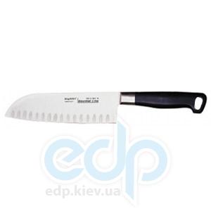 Berghoff -  Японский нож со скругленным концом и выемками на лезвии Gourmet line -  18 см (арт. 1399690)