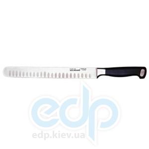 Berghoff -  Нож для лосося/ветчины со скругленным концом и выемками на лезвии Gourmet line -  26 см (арт. 1399836)