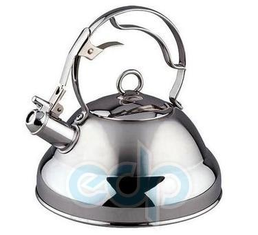 Vinzer (посуда) Vinzer -  Чайник PREMIER - нержавеющая сталь, 2,6 л, свисток (арт. 89006)